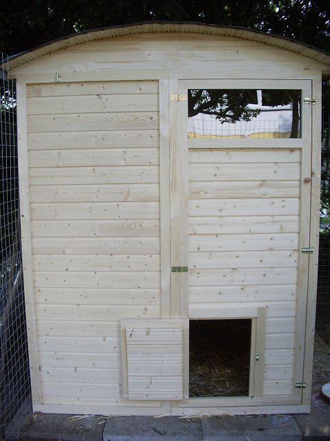 Hühnerhaus Leander begehbar